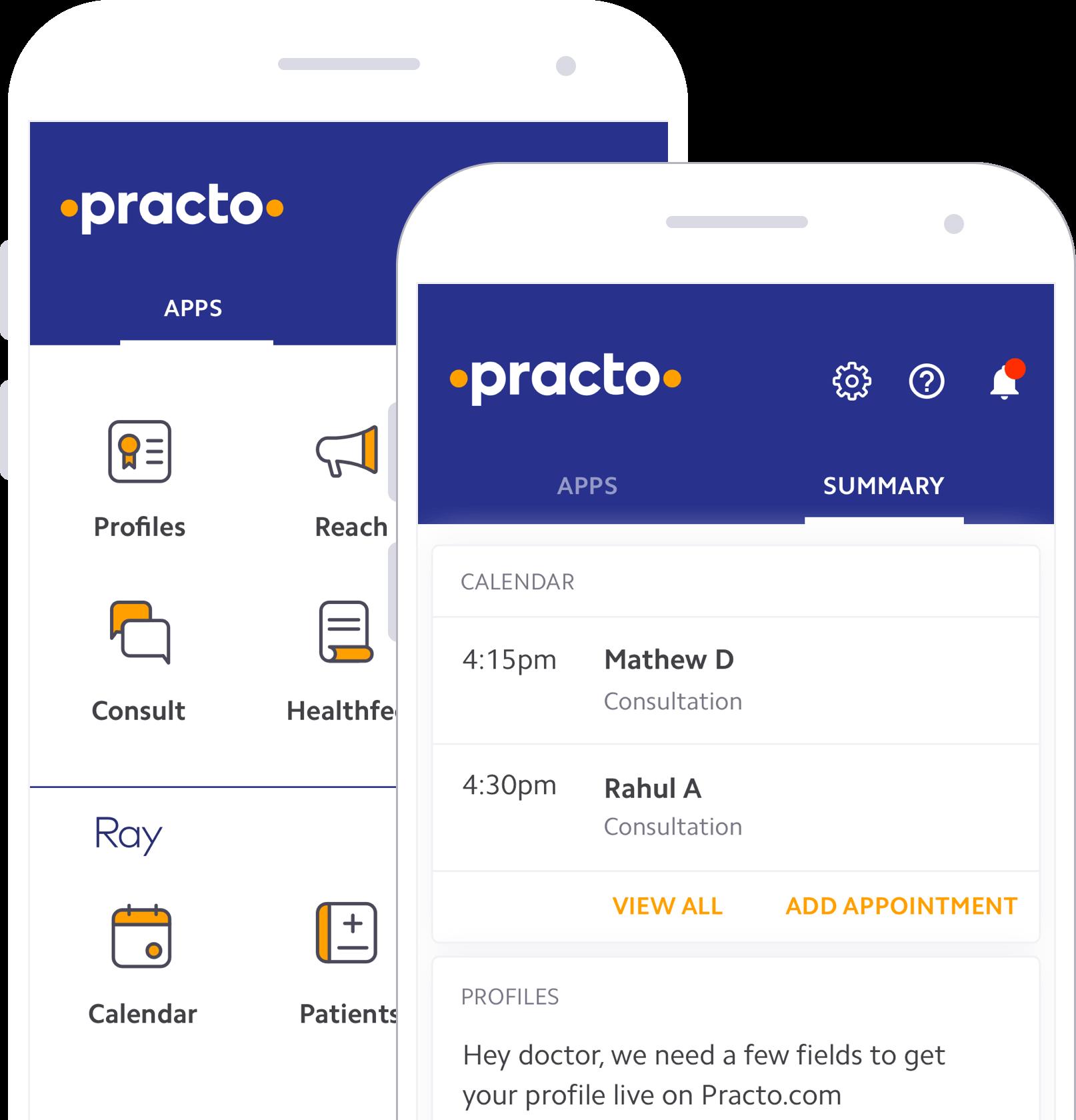 Practo Pro app