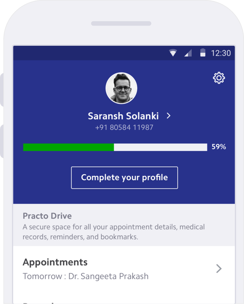 Seamless sync with the Practo app for patient