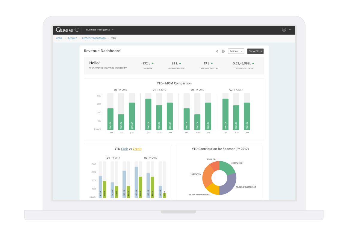 Descriptive analytics dashboards - Querent